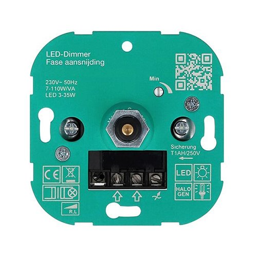 l r triac dimmer voor 230v led lampen fase aansnijding. Black Bedroom Furniture Sets. Home Design Ideas