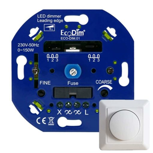 Phase cut dimmer for 230v LED Lamps + Front 1