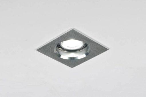 Aluminium design inbouwspot