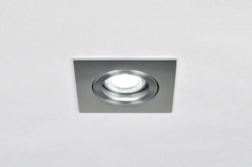 Een geschuurd aluminium inbouwspot kantelbaar 2