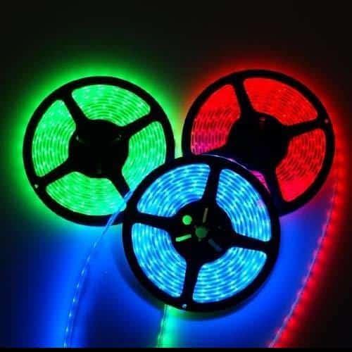 RGB LED STRIP 12V , 300 SMD 5050 LED'S IP44 5m