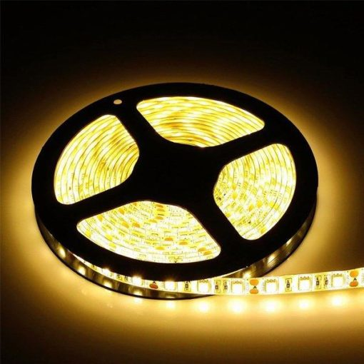 LED STRIP 12V, 300 SMD 5050 LED 5m | Résistant aux éclaboussures IP44 - 3000k 1