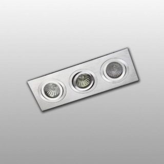 Recessed spot 3 tiltable aluminum rectangle