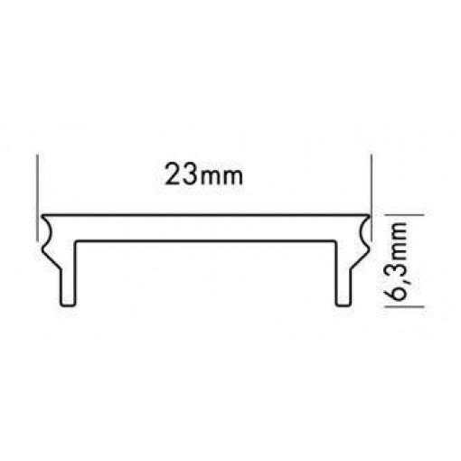 Profilé en aluminium + couvercle modèle bas - large