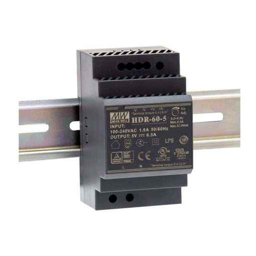 DIN RAIL voeding 60W - 12v - Meanwell 1
