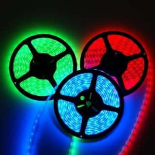 RGB LED STRIP 12V, 150 SMD 5050 LEDs IP67 5m