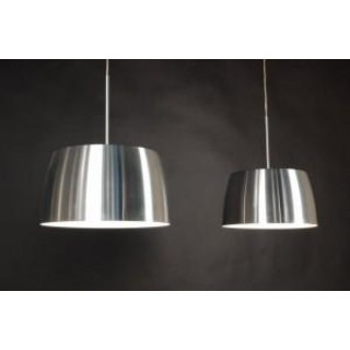 Design 2-light LED hanging lamp aluminum
