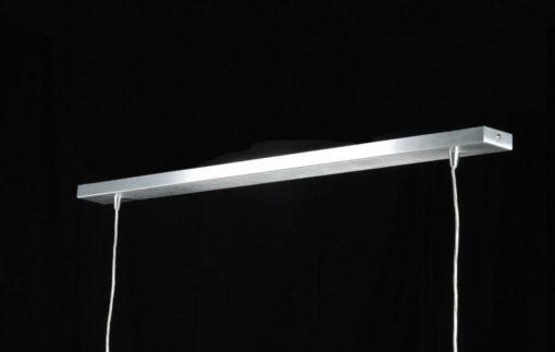 Design 2-lichts led hanglamp aluminium