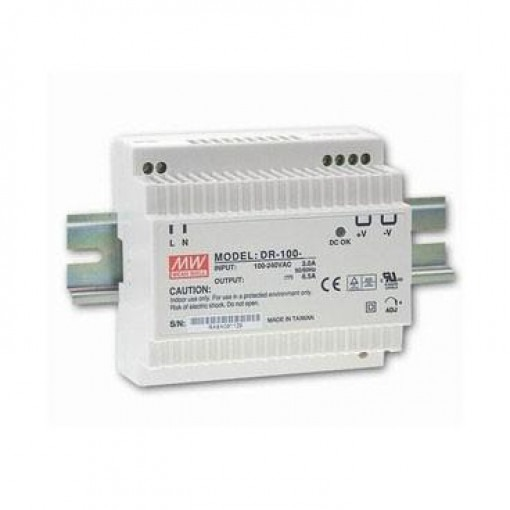 DIN RAIL voeding 100W - 12v - MEANWELL