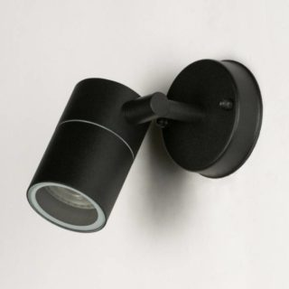 Black wall light led spot