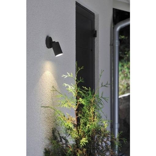 Black wall light led spot