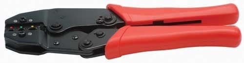 Professional crimping tool for insulated cable lugs
