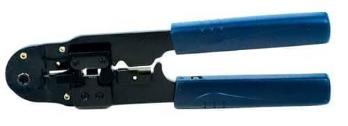 Low cost RJ crimping tool for RJ45 connectors