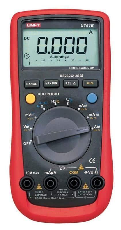 Moderne digitale multimeter - auto range met RS232 connectie