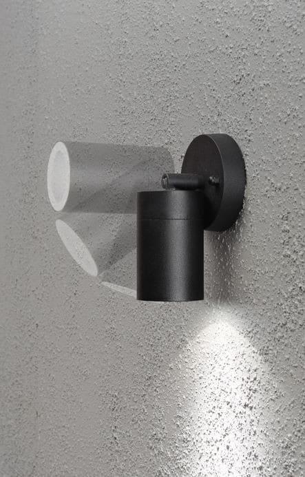 Applique murale noire led spot