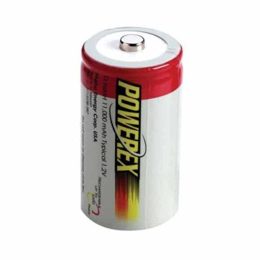 Herlaadbare D-batterijen - 1,2V 11.000mAh - NiMH - 2 stuks - Powerex 1