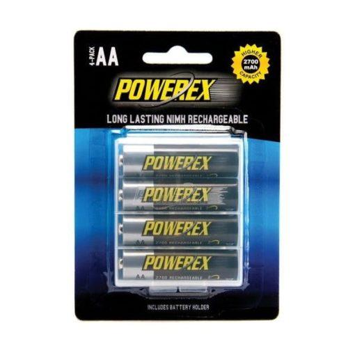 Herlaadbare Powerex AA-batterijen - 1,2V 2700mAh - NiMH - 4 stuks 1