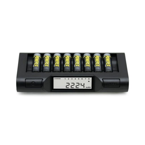 Professionele Powerex batterijlader turbo lader / analyzer voor 8 AA/AAA batterijen 1