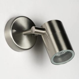 Stainless steel adjustable LED spot fixture IP44