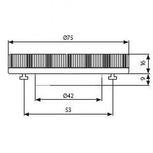 LED GX53 Lamp 230 Volt 3.5 Watt replaces 9W energy saving lamp