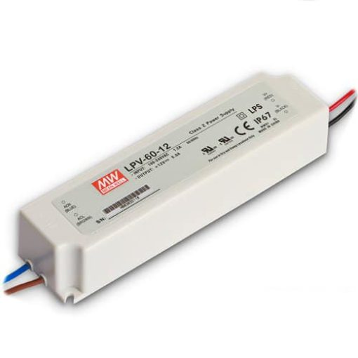 LED voeding IP67 - Meanwell - 12V 60W 1