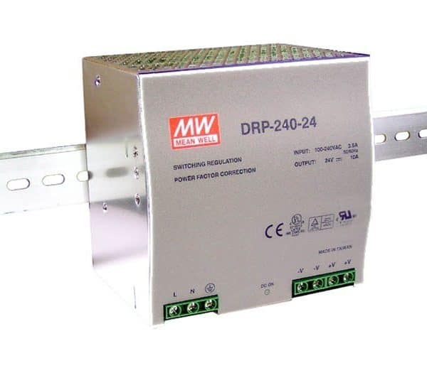 Voeding voor DIN-RAIL Meanwell 24V 240W