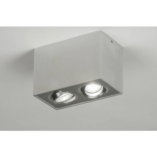 Aluminum surface mounted spot with LED