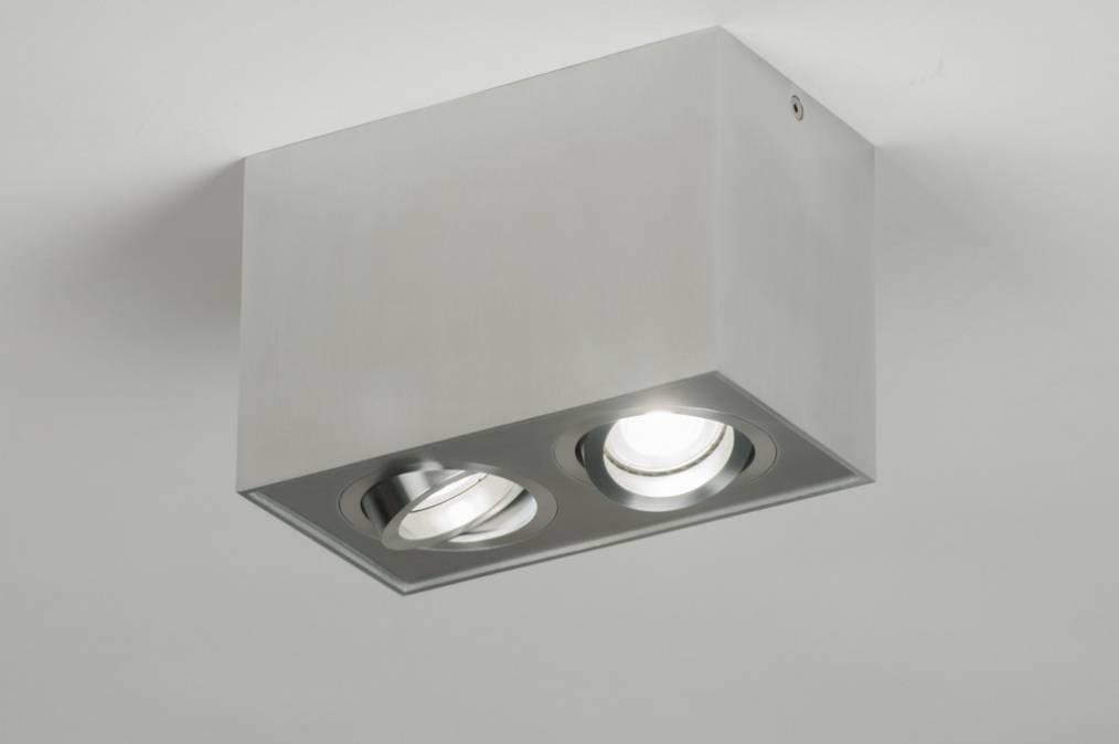 Aluminium opbouwspot met LED   LEDshoponline