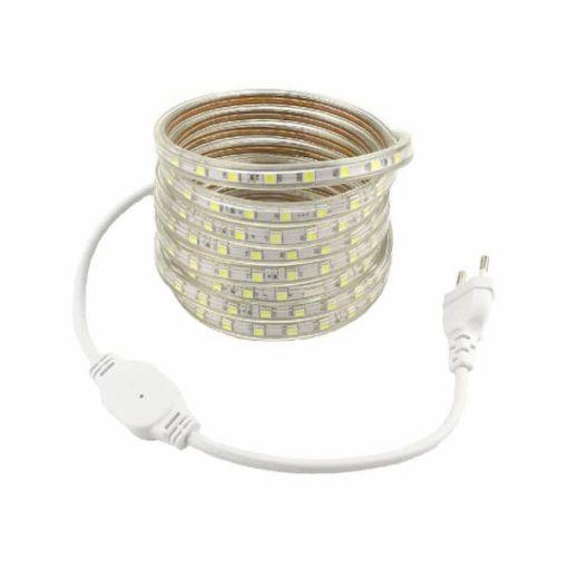 LED strip 230V 10m koud-wit 5050 IP68 1