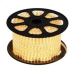 Bande LED 230V / m blanc chaud 5050 IP68