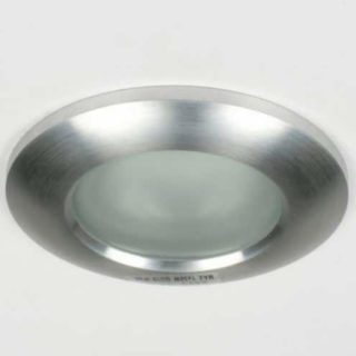 IP65 tiltable LED recessed spot sanded aluminum