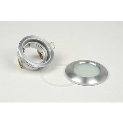 IP65 tiltable LED recessed spot sanded aluminum