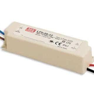 Alimentation LED IP67 - Meanwell - 12V 20W