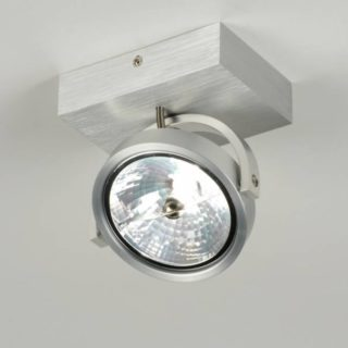 Ar111 LED ceiling / wall alu fixture