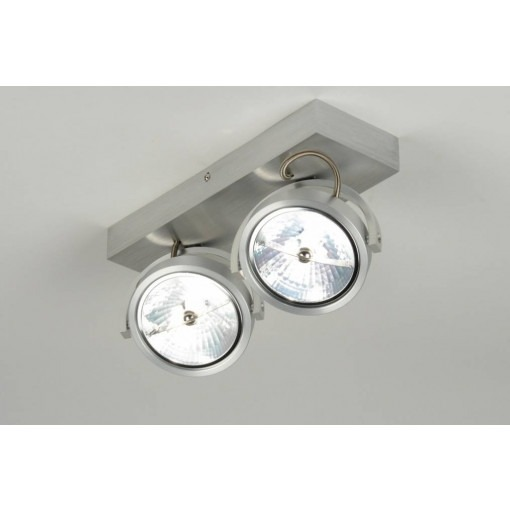 Ceiling lamp 2x ar111 full of aluminum