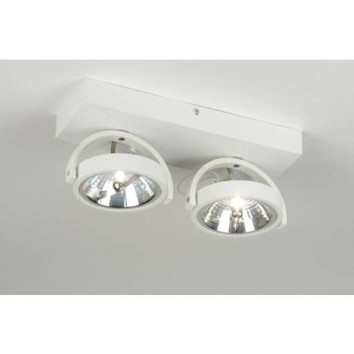 Ceiling lamp 2x ar111 matt white
