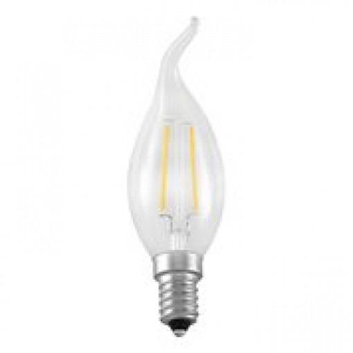 Bougie LED E14 2W-25W 2700k, blanc chaud avec boucle