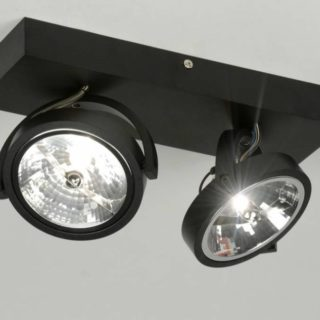 Ceiling lamp 2x ar111 matte black