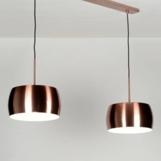 Suspension LED en cuivre tendance