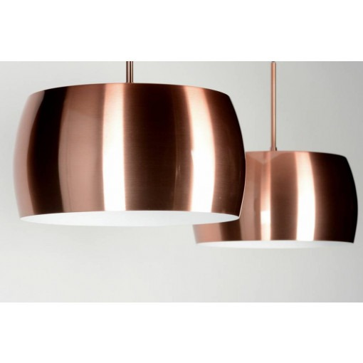 Trendy copper LED hanging lamp
