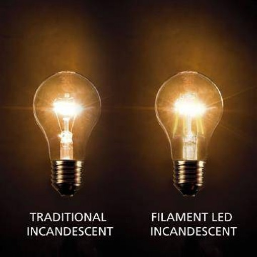 E27 filament LED lamp 8W dimmable