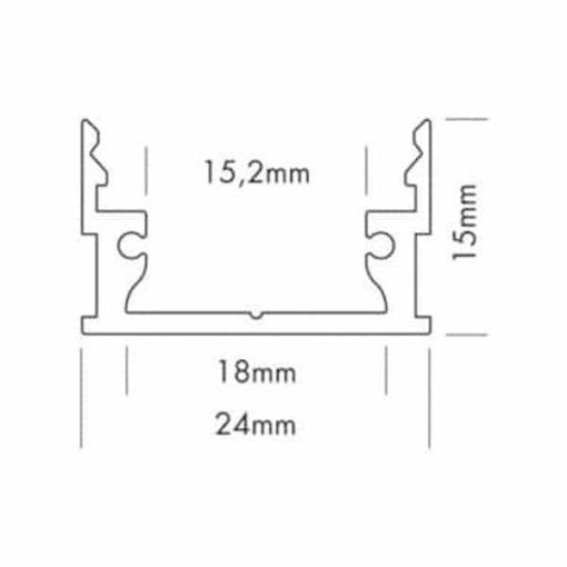 Profil en aluminium standard large 1