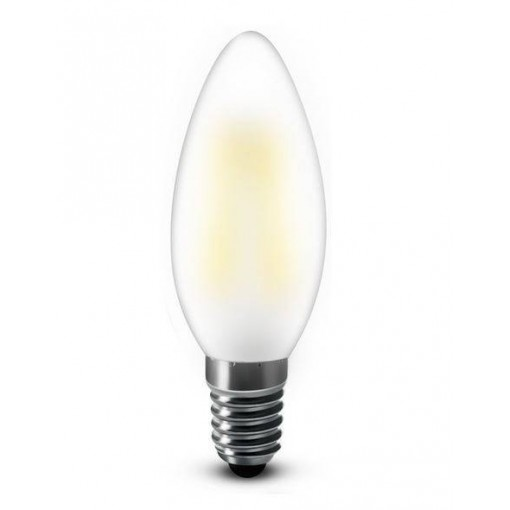 Bougie LED E14 4W 2200k, blanc chaud mat, dimmable