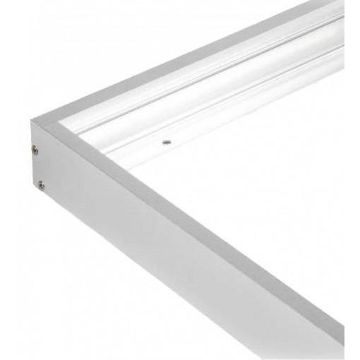 Panneau led 120x30 en surface, cadre en aluminium monté en surface