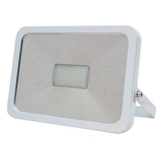 LED flood light 50W cold-white with wave sensor