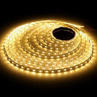 Bande LED 12v 5m 300SMD 3528 Blanc chaud IP44