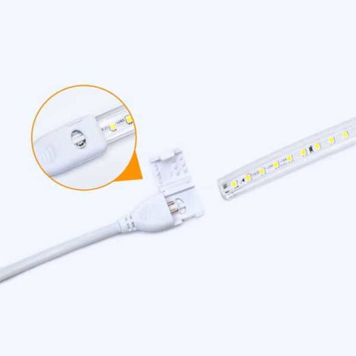 LED strip 230V met geïntegreerd circuit 2835-120SMD 50m | warm-wit 3000k 2