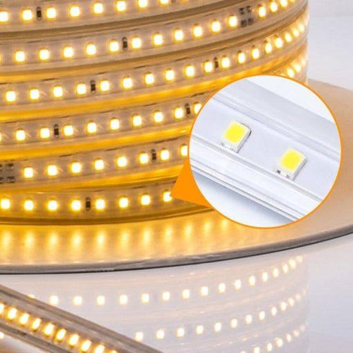 LED strip 230V met geïntegreerd circuit 2835-120SMD 50m | warm-wit 3000k 1