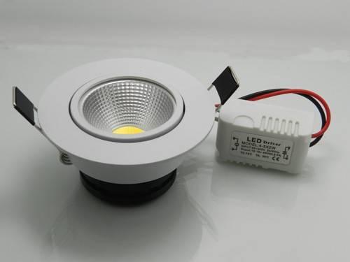 Downlight à LED - Downlight 5W blanc chaud