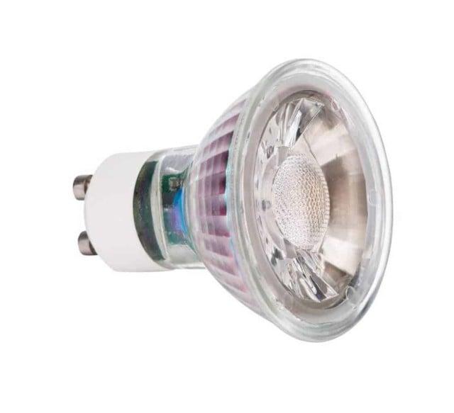 GU10 7W Glas LED spot 2700k